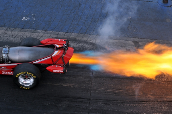 Jet Cars Add Fire to Super Chevy Show